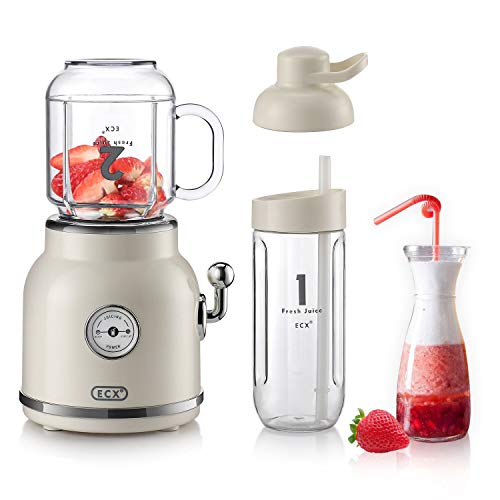 Personal Blender for Shakes and Smoothies, ECX Portable Blender with 6 Sharp Blades, Smoothie Blender with 20.3 oz Tritan BPA-Free...