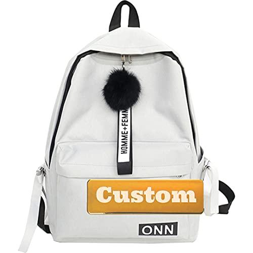 Nombre Personalizado Ligero Mini Mini Mochila para Hombres Senderismo Daypack 30L Casual para Adolescente (Color : Grey, Size : One Size)