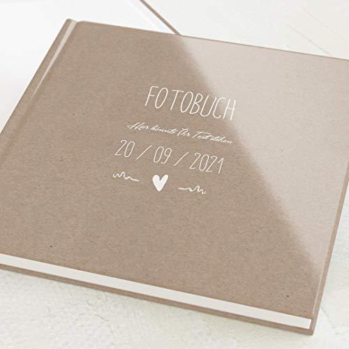 sendmoments Fotobuch zum Selbstgestalten, Passend, personalisiert mit eigenem Text, quadratisches Format, 32 leere weiße Seiten oder mehr