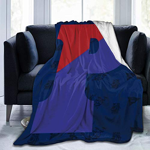 Littlearth NCAA Pennsylvania Quakers Warm Blankets Ultra Soft Micro Fleece Blanket Bed Couch Living Room All Season Bed blanket80 x60