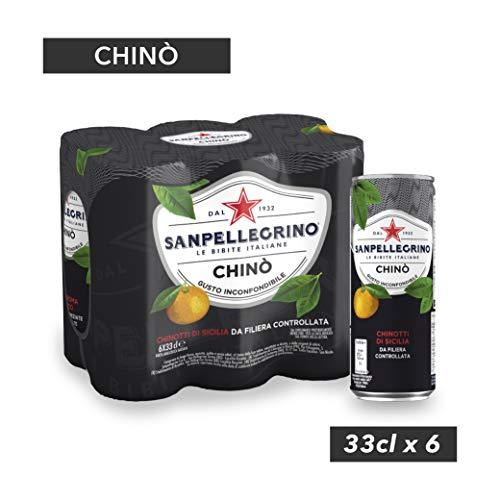 SANPELLEGRINO Bibite Gassate, CHINO' Lattina 33cl x 6