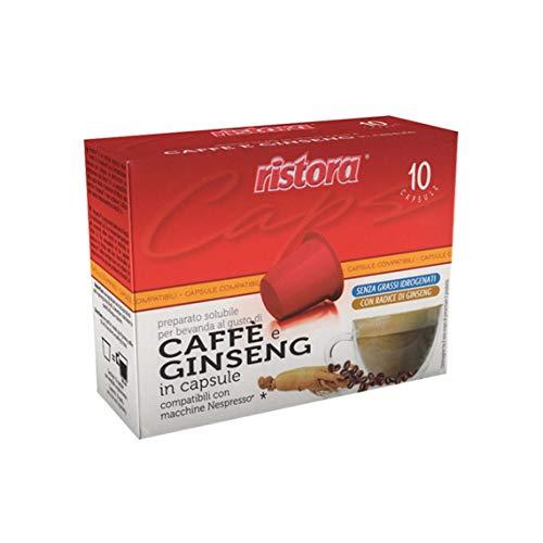 10 cápsulas Ginseng Ristora compatibles con Nespresso.