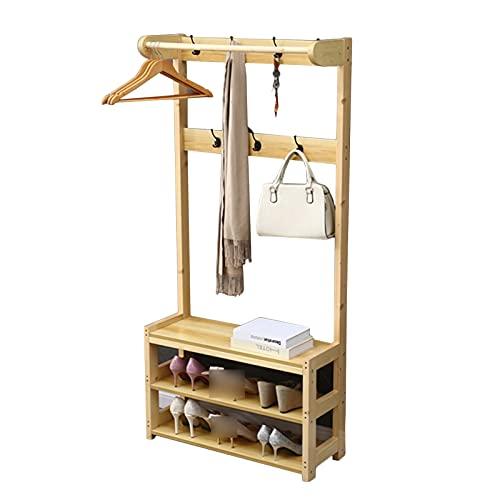 LM-Coat rack XINGLL Percheros Pie Perchero, Muebles De Almacenamiento Grandes, Estante De 3 Niveles, Artículos para El Hogar Entrada Dormitorio Pasillo Portátil, Almacenamiento Calzado Ropa