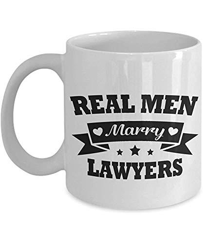 Mok echte mannen trouwen advocaten mok keramische witte koffie mokken Valentines dag geschenk voor echtgenoot van advocaat beste thee bekers voor vriend van advocaat geweldig liefhebber presenteren romantische drank voor hubby 330Ml