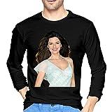Photo de Qin Tong t-Shirt Homme Manches Longues Shania Twain Breathable Mens Tops Long Sleeve T-Shirt Black Unique Design par