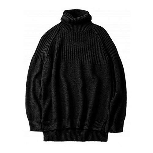 HSKS Winter kasjmier trui, vrouwen losse luie wol gebreide coltrui grote maat effen kleur dikke bodem shirt
