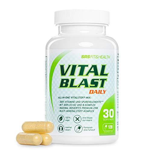 SRS Muscle Vital Blast, 120 capsules | all-in-one vitalstoff-mix met 26 premium grondstoffen | hoge concentraties | 100% plantaardig | zonder additieven | Duitse premiumkwaliteit