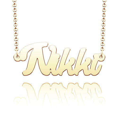 EV.YI Jewels Stainless Steel Personalize Custom Name Necklace