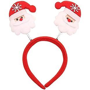 Ouneed- Hot !!! Christmas Headband Headwear Clasp Hair Accessory Hair bands,Xmas Party Decor Head Hoop (A):Whiteox