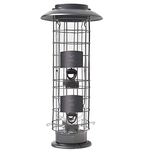 More Birds Squirrel-X4 Squirrel Resistant Bird Feeder, 4 Spring Loaded Perches, 1.5 Lb. Birdseed Capacity