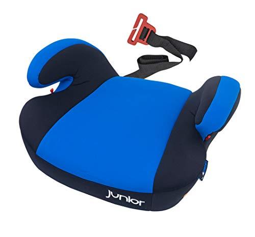 Petex - Rialzo per seggiolino auto Maja con sistema di fissaggio ISOFIX, gruppo 3, bambini di circa 7-12 anni, 22-36 kg, colore: Blu