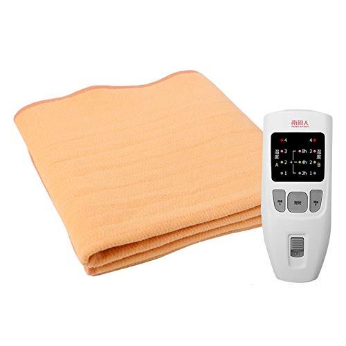 Manta Doble,Espesar Manta eléctrica,Seguridad Radiación-Libre Inicio Termostato de Control Doble Dormitorio para la Cama o el sofá-A 200x180cm(79x71inch)