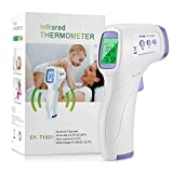 X-Cheng Infrared Thermometer, Non-Contact Digital Forehead Thermometer for Adults Kids and Baby,Fever Smart Temperature Gun Reading Infared Thermometer for Humans with LCD Digital Screen (Purple)