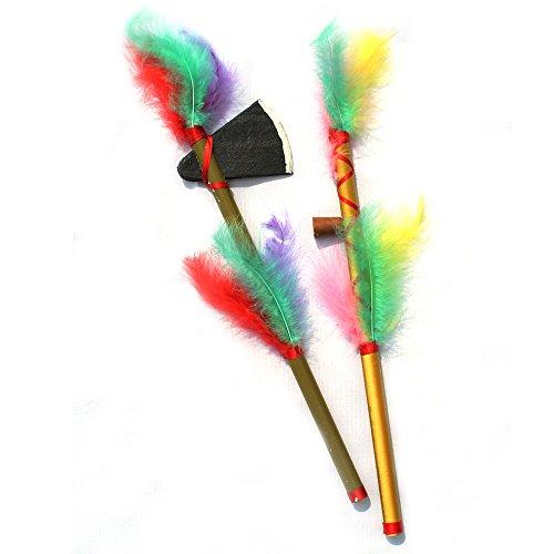 KarnevalsTeufel Indianer-Set 2-TLG (Friedenspfeife, Tomahawk)
