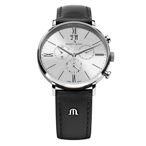 Maurice Lacroix Eliros EL1088-SS001-110 - Reloj de Pulsera para Hombre (cronógrafo, Cuarzo, Piel)