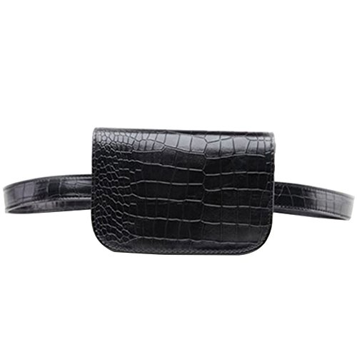 【Product Dimensions】Waist Pack: 7.2 x 2 x 4.7 inches; Belt length: 39 inch and the maximum waist circumference 35 inch; 【Fanny Pack Material】Made of high quality crocodile grain leather material, fashionable and luxury. 【Internal Structure】Two pocket...