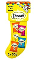 Dreamies - every cat just loves Dreamies! Each stocking contains the following: Dreamies with Chicken 30g, Dreamies with Salmon 30g, Dreamies with Cheese 30g, Dreamies with Beef 30g, 2 X Deli-Catz with chicken 5g These treats are perfect for putting ...