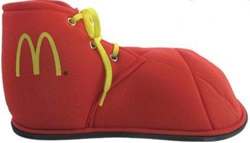 MyPartyShirt Traje de Payaso Rojo M Logo Zapatos Infantiles Ronald Mcdonald Tela de Mcdonald