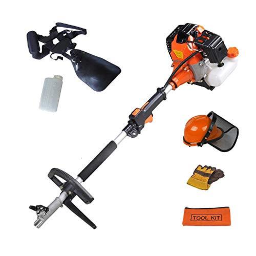 Todeco - Multifunktions Gartenwerkzeug, Benzin Multi-Tool - Hubraum: 52 cm³ - Funktion: Unkrautschneider - Orange, 5 in 1