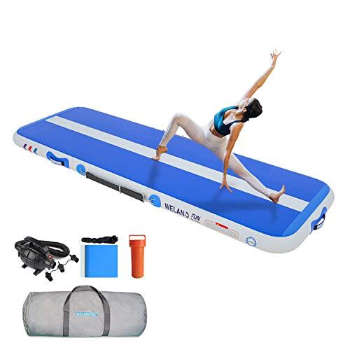 WelandFun Tumbling Mats 15/20cm de grosor 3/4/5/6M Estera de gimnasia inflable, Tumbling Air Gymnastics Air Track Mats para el Hogar/Entrenamiento