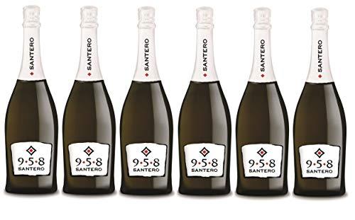 Santero 958 Spumante Cuvèe Extra Dry Vino Espumoso [ 6 Botellas x 750ml ]