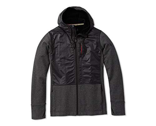 Smartwool Merino Sport Fleece Full Zip Hybrid Hoodie Charcoal Heather LG