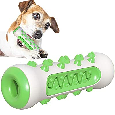 IOOI Dog Chew Toys, Bite-resisitant Dog Dental Sticks, Dog Toothbrush for Dental Plaque, Dog Teeth Cleaning Products for Bad Breath Dental Oral Care for Puppy Small Medium Large Dogs (Green)