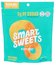 SmartSweets, Candy Peach Rings, 5.3 Ounce
