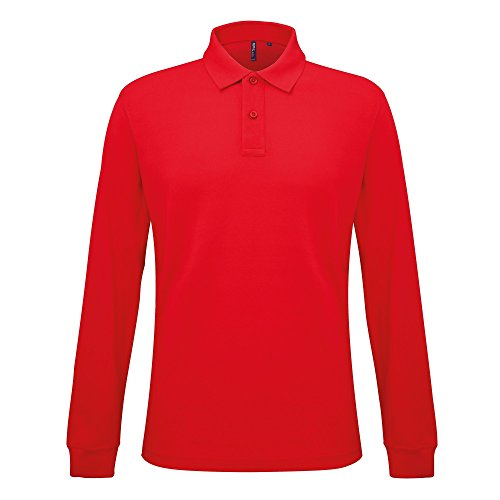 Asquith & Fox Men's Fit Long Sleeved Polo, Rouge (Classic Red 000), XXX-Large Homme