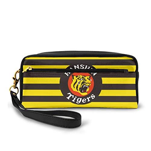 阪神タイガース 鉛筆バッグ ペンケース ポーチ ケース メイクアップ コスメティック 旅行 収納袋 スクールバッグ 20 X 9 X 6 Cm
