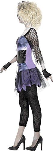 SMIFFYS Smiffy's 44367M - Wild Child Costume Nero di Zombie 80'S Abito da Leggings Collana Arco & Guanti, M