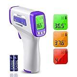 Thermomètre Numérique Thermomètre à Fièvre Boriwat Thermomètre Frontal Infrarouge Sans Contact, Thermomètre Numérique 3 en 1 pour Bébés et Adultes, avec Alarme de Fièvre et HD LCD Écrans