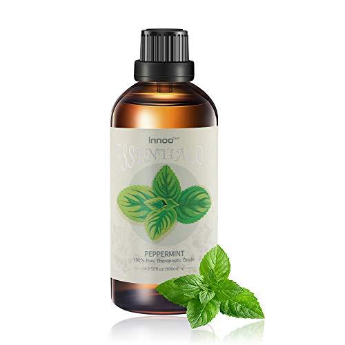 Huile essentielle de menthe poivrée, 100 ml - pure, naturelle, sans cruauté, végétalienne, distillée à la vapeur et non diluée - à utiliser en aromathérapie et diffuseurs