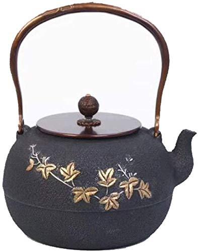 Glass teapot Kettle Cast Iron Teapot Style Cast Iron Teapot Pure Hand Iron Pot Teapot Daisy 1.3L Tetsubin tea set