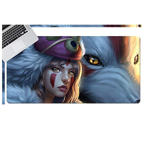 Showkig Extended Mouse Pad, Gaming Keyboard Pad ,Ghost Princess, Mousepad for Gamer Studying,Ergonomic Laptop Mouse Pad with Stitched Edges, Best Gaming Keyboard Pad for Teens Work