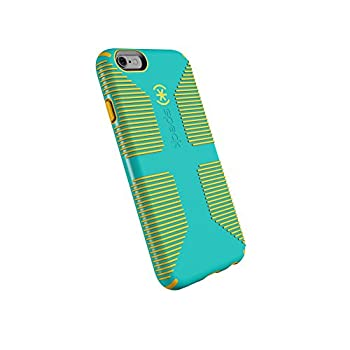 Speck Products CandyShell Grip Cell Phone Case for iPhone 6 iPhone 6S - Caribbean Blue/Zest Yellow