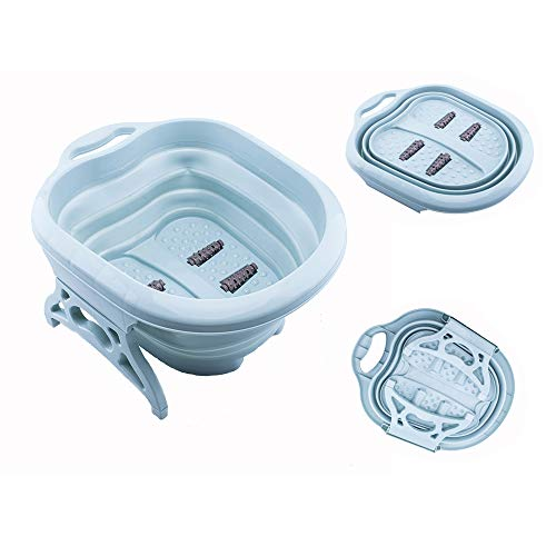 Collapsible Foot Spa Soak Tub,Bucket,Basin with Feet Massager Rollers,for Foot Soaking Feet Bath, Tired Sore Feet Stress Relief Spa Pedicures.Large Foldable Bucket for Callus Remover, Feet Treatment