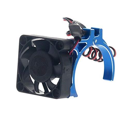 RC coche de motor del disipador de calor del ventilador de refrigeración con sensor térmico CNC de aleación de aluminio de la abrazadera del disipador de calor for el 4268 4274 Motores 1/8 1/10 ajuste