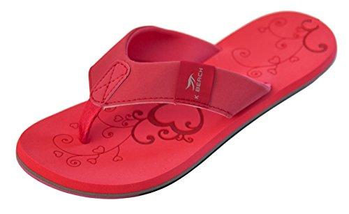 Bockstiegel Damen Zehenstegpantolette Katrin Zehentrenner, Farbe:rot, Größe:38 EU