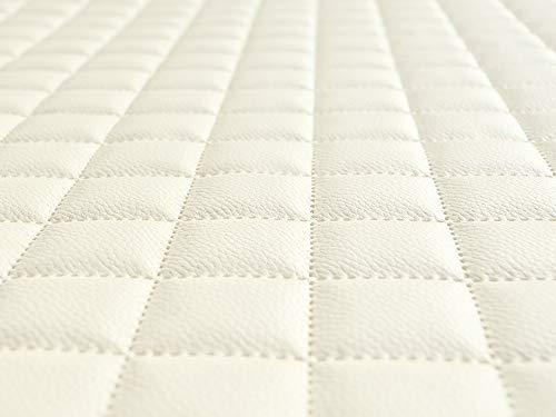 Lederkonzept Kunstleder Polsterstoff Gesteppt Kaschiert Meterware Möbelstoff Dekostoff 31 Weiß
