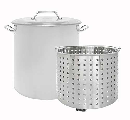 CONCORD Stainless Steel Stock Pot w/Steamer...