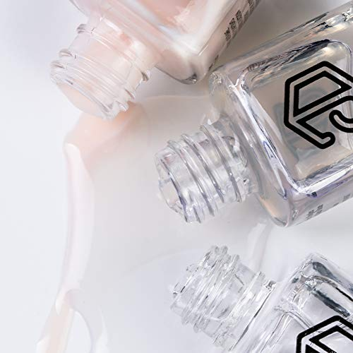 Jolly Dim Makeup - Set de esmalte de uñas French (pack de 3). Top Coat. Base de tratamiento de uñas. Esmalte de uñas Crepe 2