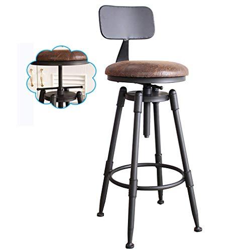 CHAIR Silla Bar, cafetería, silla de restaurante, taburetes de bar ajustables en altura y giratorios Mostrador para cocina Pub Café Desayuno Bistro Retro 70~91 cm de alto,# 2