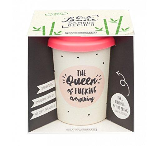 Grafik Werkstatt Bambus Kaffe-Becher | Coffee-to-Go | Geschenk | Bamboo-to-Go | Dankeschön | 350 ml | Queen