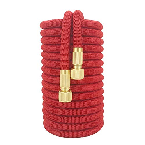 Lichtgewicht Wearable Garden besproeiingsslang Retractable Magic Garden Hose Nozzle Hogedrukslang Tuinslang Soft High Pressure (Color : Red hose, Lengh : 25ft)