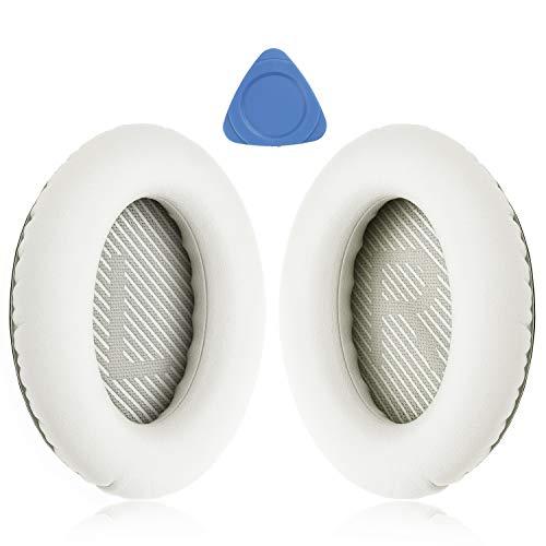 YOCOWOCO Cushions Bose QC35 QC35 II oordopjes vervangen – oordopjes voor Bose QuietComfort 35 I/II Over-Ear Koptelefoon, Kleur: wit