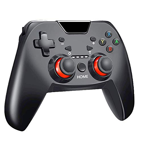Nintendo Switch Controller,Dual Shock Gamepad with Adjustable Turbo Function, Support Gyro Axis Function for Nintendo Switch Console, Wireless Switch Controller (Black)