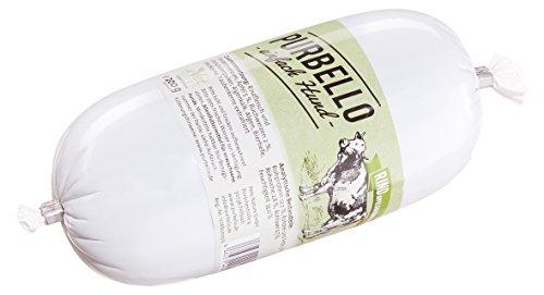 PURBELLO Hundewurst Rind - 8 x 200 g - Monoprotein Hundefutter mit hohem Fleischanteil - Nassfutter für Hunde - Schnittfest & Getreidefrei (1,6 kg)