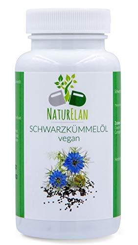 Schwarzkümmelöl Kapseln vegan (Ägyptisch) - 90 vegane Kapseln - 1 Kapsel 500mg Schwarzkümmelöl - Nigella Sativa - black cumin seed oil - kaltgepresst – hergestellt in Deutschland