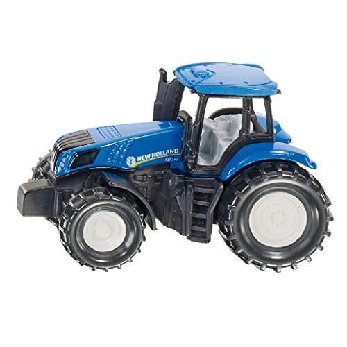 siku 1012, New Holland T8.390 Traktor, Metall/Kunststoff, Blau/Schwarz, Spielzeugtraktor für Kinder